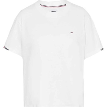 Υφασμάτινα Γυναίκα T-shirt με κοντά μανίκια Tommy Jeans DW0DW10130 λευκό