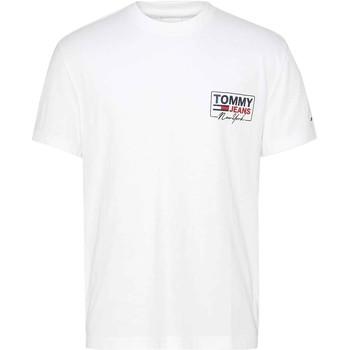 Υφασμάτινα Άνδρας T-shirt με κοντά μανίκια Tommy Jeans DM0DM10216 λευκό