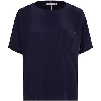 Υφασμάτινα Γυναίκα T-shirt με κοντά μανίκια Tommy Hilfiger WW0WW30301 Μπλε