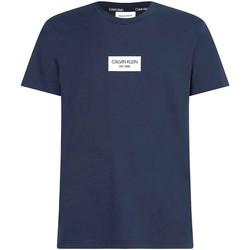 Υφασμάτινα Άνδρας T-shirt με κοντά μανίκια Calvin Klein Jeans K10K106484 Μπλε