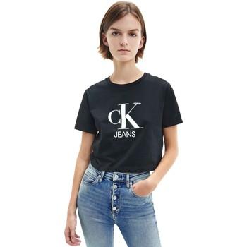 Υφασμάτινα Γυναίκα T-shirt με κοντά μανίκια Calvin Klein Jeans J20J215312 Μαύρος