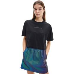 Υφασμάτινα Γυναίκα T-shirt με κοντά μανίκια Calvin Klein Jeans J20J215313 Μαύρος