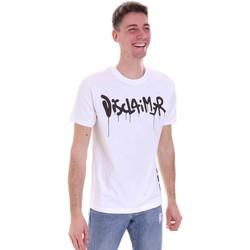 Υφασμάτινα Άνδρας T-shirt με κοντά μανίκια Disclaimer 21EDS50565 λευκό