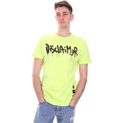 Υφασμάτινα Άνδρας T-shirt με κοντά μανίκια Disclaimer 21EDS50565 Πράσινος