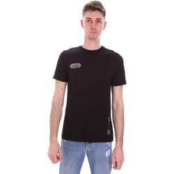 Υφασμάτινα Άνδρας T-shirt με κοντά μανίκια Disclaimer 21EDS50517 Μαύρος