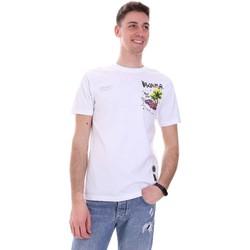 Υφασμάτινα Άνδρας T-shirt με κοντά μανίκια Disclaimer 21EDS50522 λευκό