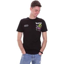 Υφασμάτινα Άνδρας T-shirt με κοντά μανίκια Disclaimer 21EDS50522 Μαύρος
