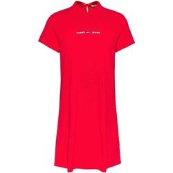 Υφασμάτινα Γυναίκα Φορέματα Tommy Jeans DW0DW10116 το κόκκινο