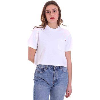 Υφασμάτινα Γυναίκα T-shirt με κοντά μανίκια Dickies DK0A4XDEWHX1 λευκό