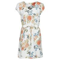Υφασμάτινα Γυναίκα Κοντά Φορέματα Betty London OWAKA Άσπρο / Multicolour