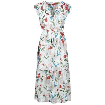 Υφασμάτινα Γυναίκα Μακριά Φορέματα Moony Mood  Άσπρο / Multicolour