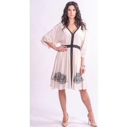 Υφασμάτινα Γυναίκα Κοντά Φορέματα Fracomina F321SD2002W41801 Αχρωμος