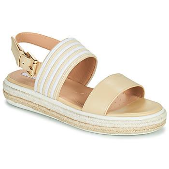 Παπούτσια Γυναίκα Σανδάλια / Πέδιλα Geox LEELU Beige