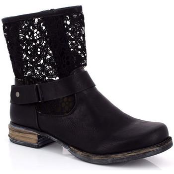 Παπούτσια Γυναίκα Μποτίνια Kimberfeel ANAELLE Noir