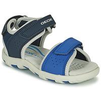 Παπούτσια Αγόρι Σανδάλια / Πέδιλα Geox SANDAL PIANETA Μπλέ