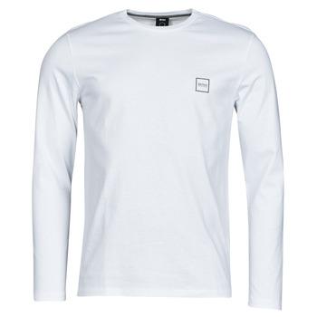 Υφασμάτινα Άνδρας Μπλουζάκια με μακριά μανίκια BOSS TACKS Άσπρο
