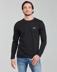 Υφασμάτινα Άνδρας Μπλουζάκια με μακριά μανίκια BOSS TOGN CURVED Black