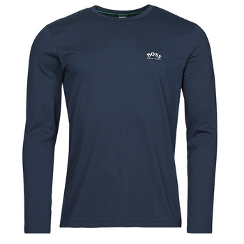 Υφασμάτινα Άνδρας Μπλουζάκια με μακριά μανίκια BOSS TOGN CURVED Marine