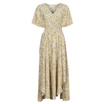 Υφασμάτινα Γυναίκα Μακριά Φορέματα Betty London ONINA Yellow / Άσπρο