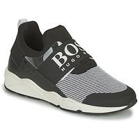 Παπούτσια Αγόρι Χαμηλά Sneakers BOSS NATINA Black / Άσπρο