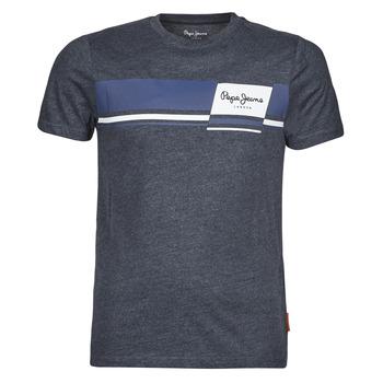 Υφασμάτινα Άνδρας T-shirt με κοντά μανίκια Pepe jeans KADE Μπλέ