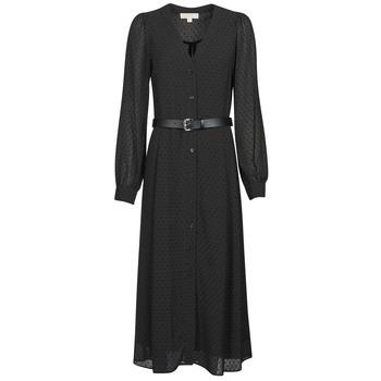 Υφασμάτινα Γυναίκα Μακριά Φορέματα MICHAEL Michael Kors CRINKLE DOTS KATE DRS Black