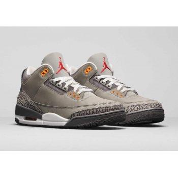 Παπούτσια Ψηλά Sneakers Nike Air Jordan 3 Cool Grey Silver/Light Graphite-Orange Peel-Sport Red