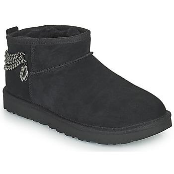 Παπούτσια Γυναίκα Μπότες UGG Classic Ultra Mini Chains Black