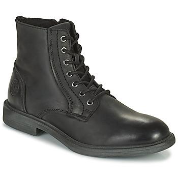 Παπούτσια Άνδρας Μπότες Jack & Jones JFW KARL LEATHER BOOT Black