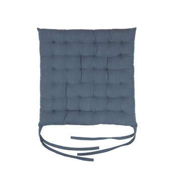Σπίτι Μαξιλάρι καρέκλας Broste Copenhagen AVA Μπλέ / Mirage