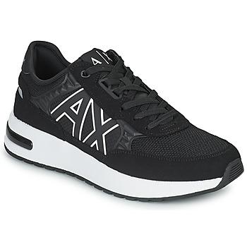 Παπούτσια Άνδρας Χαμηλά Sneakers Armani Exchange MALIKA Black / Άσπρο