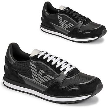Παπούτσια Άνδρας Χαμηλά Sneakers Emporio Armani ANIMA Black