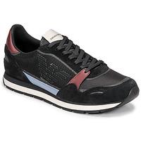 Παπούτσια Άνδρας Χαμηλά Sneakers Emporio Armani ANIMA Black / Bordeaux