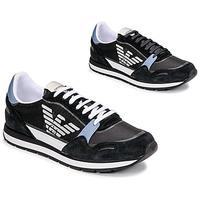 Παπούτσια Άνδρας Χαμηλά Sneakers Emporio Armani ANIMA Black / Μπλέ / Maroon