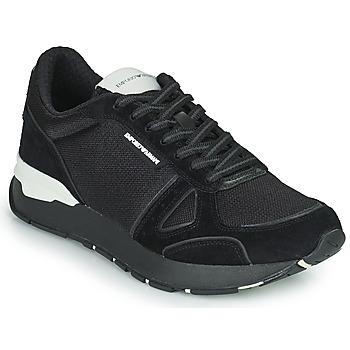 Παπούτσια Άνδρας Χαμηλά Sneakers Emporio Armani BALISTA Black