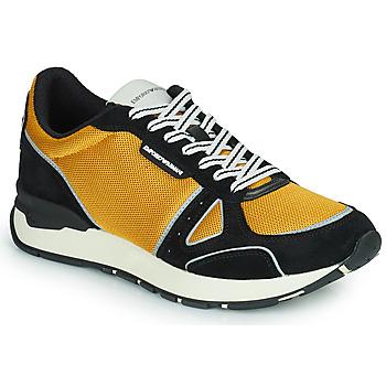Παπούτσια Άνδρας Χαμηλά Sneakers Emporio Armani TREMMA Black / Yellow