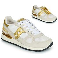Παπούτσια Γυναίκα Χαμηλά Sneakers Saucony SHADOW ORIGINAL Άσπρο / Gold