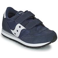 Παπούτσια Αγόρι Χαμηλά Sneakers Saucony JAZZ DOUBLE HL Marine / Άσπρο