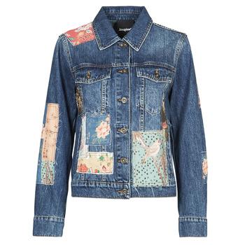 Υφασμάτινα Γυναίκα Τζιν Μπουφάν/Jacket  Desigual JAPO PATCH Μπλέ
