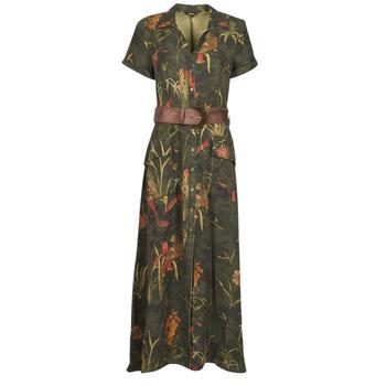 Υφασμάτινα Γυναίκα Μακριά Φορέματα Desigual AMSTERDAM Kaki