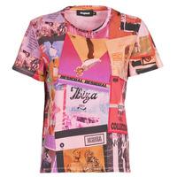 Υφασμάτινα Γυναίκα T-shirt με κοντά μανίκια Desigual PROCLAIM Multicolour