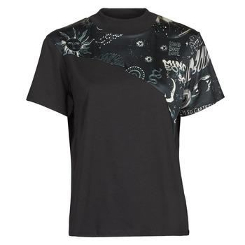 Υφασμάτινα Γυναίκα T-shirt με κοντά μανίκια Desigual GRACE HOPPER Black