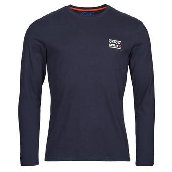 Υφασμάτινα Άνδρας Μπλουζάκια με μακριά μανίκια Oxbow N2TORJOK Marine
