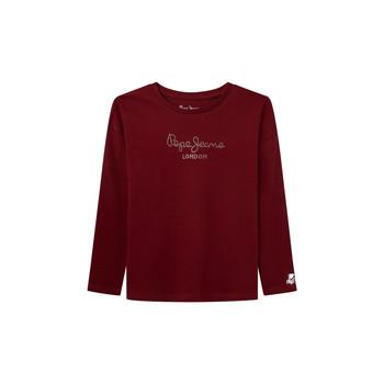 Υφασμάτινα Κορίτσι Μπλουζάκια με μακριά μανίκια Pepe jeans NURIA LS Red