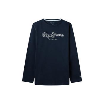 Υφασμάτινα Αγόρι Μπλουζάκια με μακριά μανίκια Pepe jeans ALDO Marine