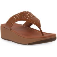 Παπούτσια Γυναίκα Σαγιονάρες FitFlop FIT FLOP MYLA FLORAL STUD TOE Beige