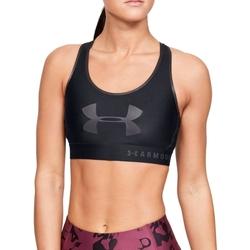 Υφασμάτινα Γυναίκα Αθλητικά μπουστάκια  Under Armour Mid Keyhole Graphic Bra Noir