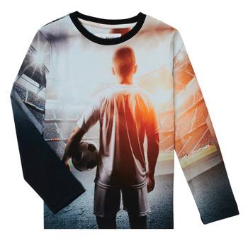 Υφασμάτινα Αγόρι Μπλουζάκια με μακριά μανίκια Desigual FOOTBALL Grey