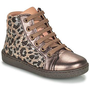 Παπούτσια Κορίτσι Ψηλά Sneakers Bisgaard GAIA Leopard / Gold