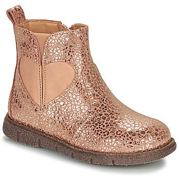 Παπούτσια Κορίτσι Μπότες Bisgaard MELODY Ροζ / Gold